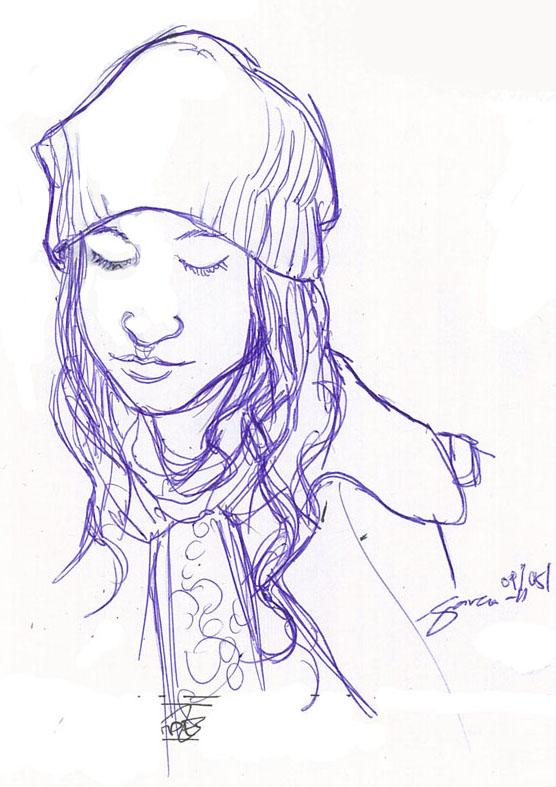 Daniel Garcia Art Illustration Portratit Girl Commission 3