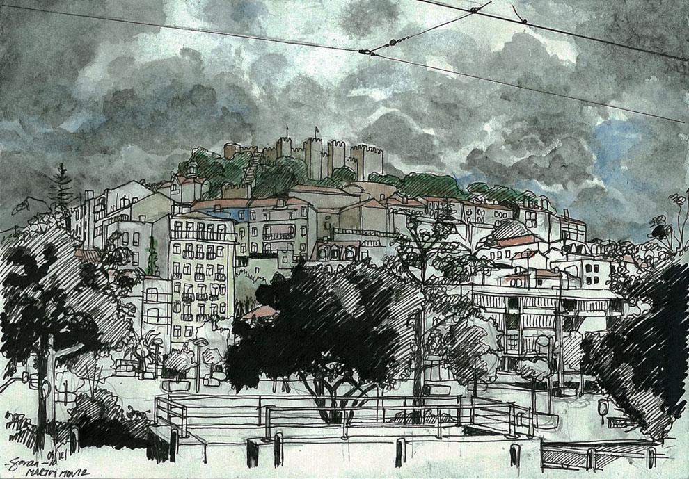 Daniel Garcia Art Illustration Shelter from the Storm Lisboa