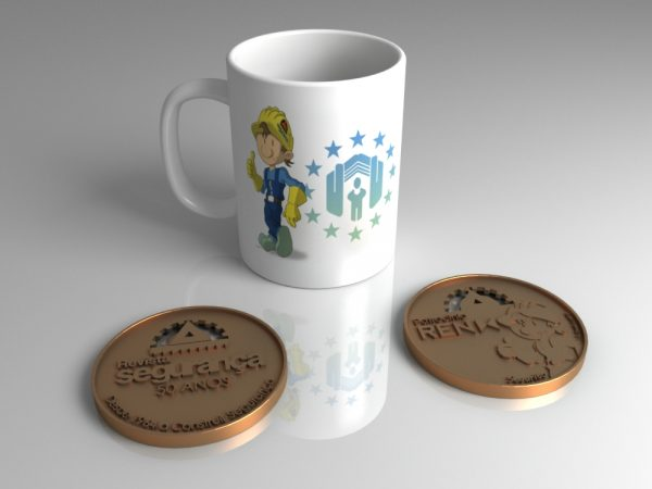 Daniel Garcia Art Illustration Mascot Mascote Revista Seguranca Security Mug Medals 01