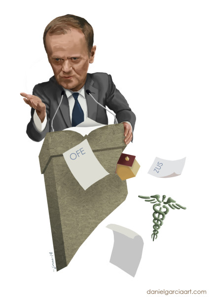 Daniel Garcia Art Illustration Donald Tusk Karykatura Caricature #