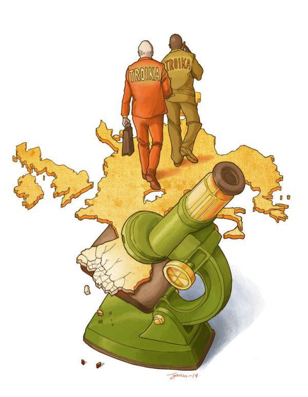 Daniel Garcia Art Illustration Editorial Portugal Crise Crisis Troika 01