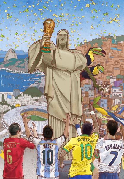Daniel Garcia Art Illustration FIFA World Cup 2014 Mundial Brazil Przeglad Sportowy 01