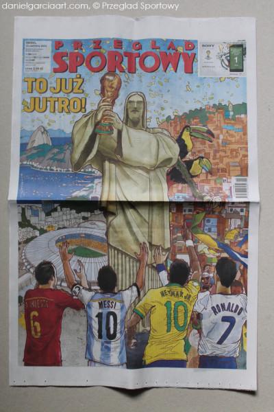 Daniel Garcia Art Illustration FIFA World Cup 2014 Mundial Brazil Przeglad Sportowy 02