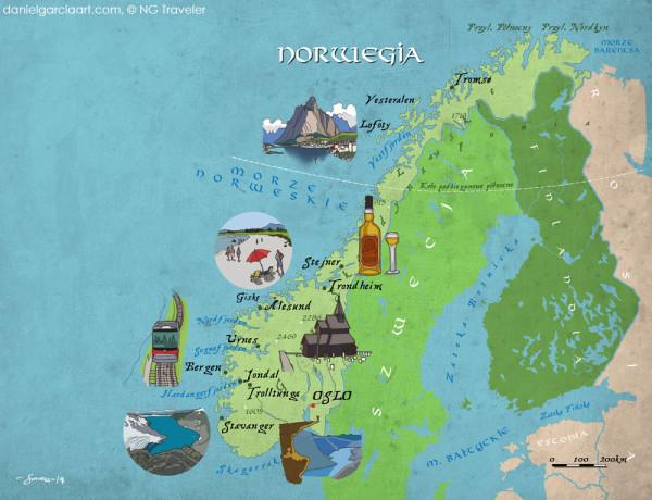 Daniel Garcia Art Illustration National Geographic Traveler Norway 01#
