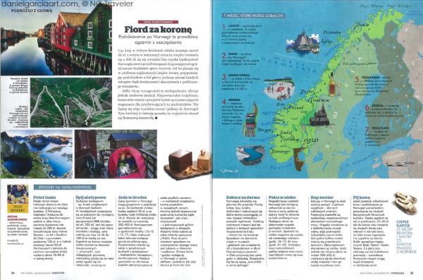 Daniel Garcia Art Illustration National Geographic Traveler Norway 02#