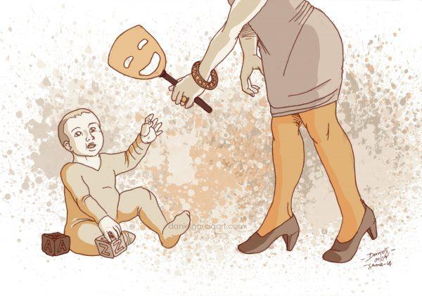 Daniel Garcia Art Ilustration Persona Mask Education Child