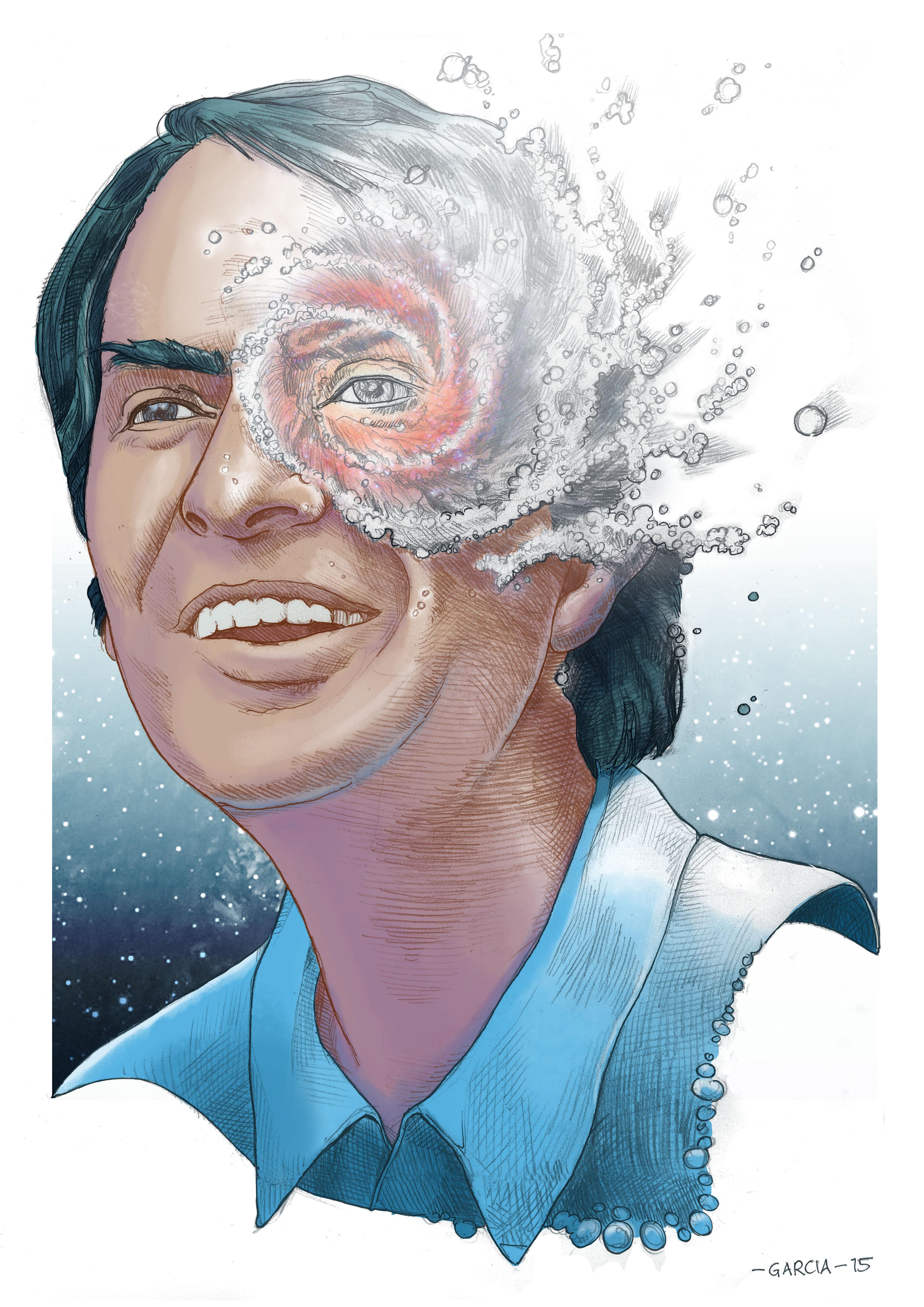 Daniel Garcia Art Illustration Carl Sagan Cosmos Universe 01