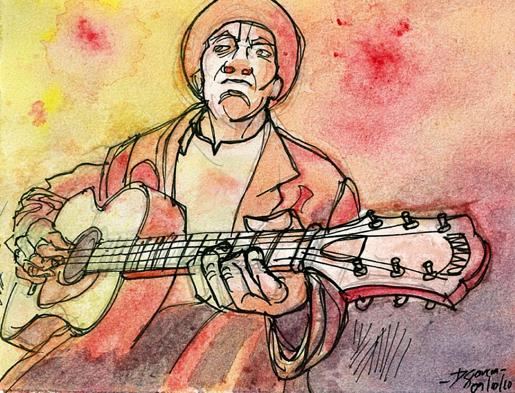 Daniel Garcia Art Illustration Red Scale Blues Guitar