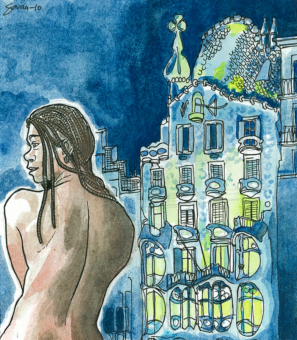 Daniel Garcia Art Illustration Barcelona Casa Batllo Gaudi