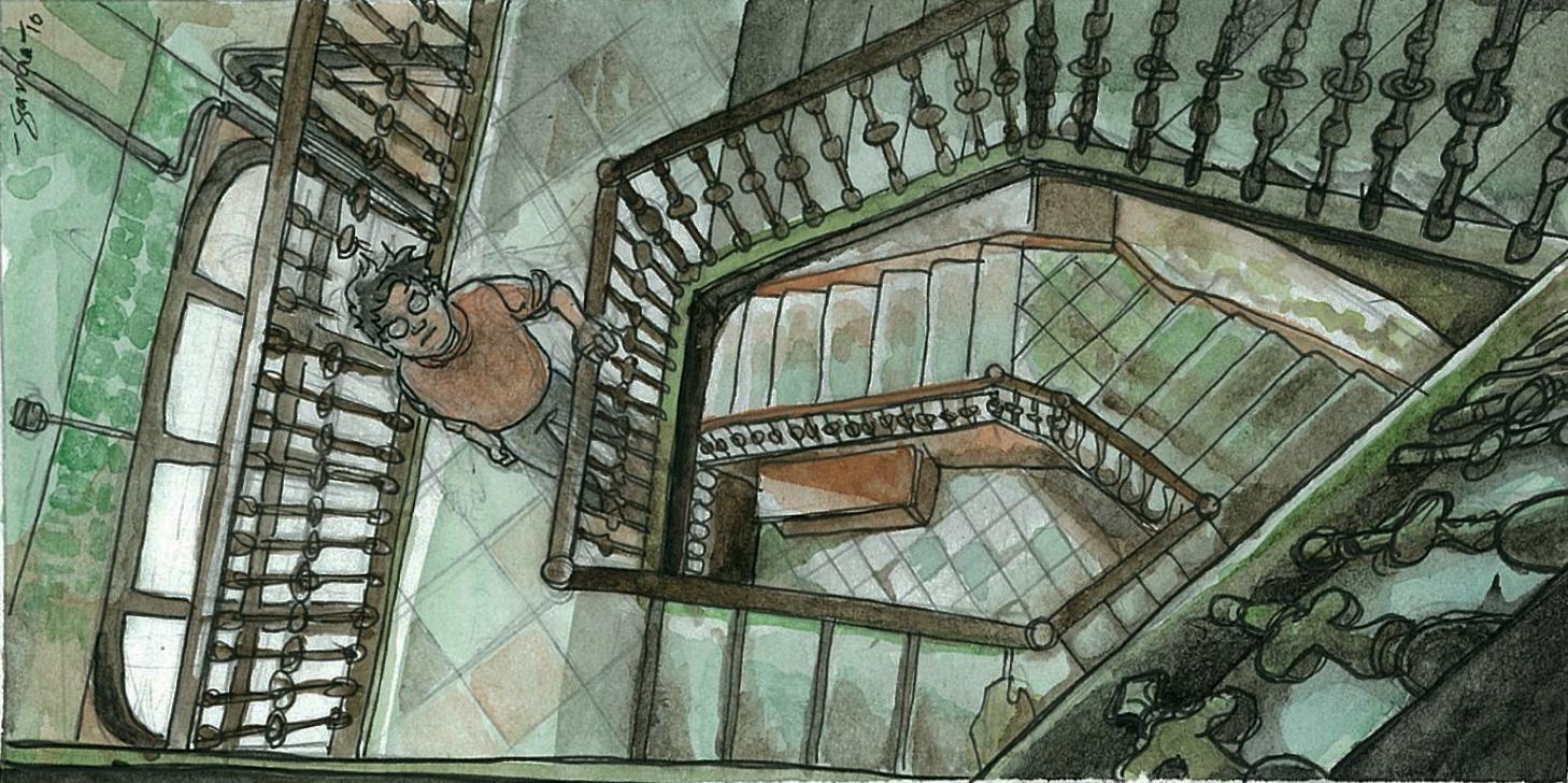 Daniel Garcia Art Illustration Stairs Escaleras Barcelona