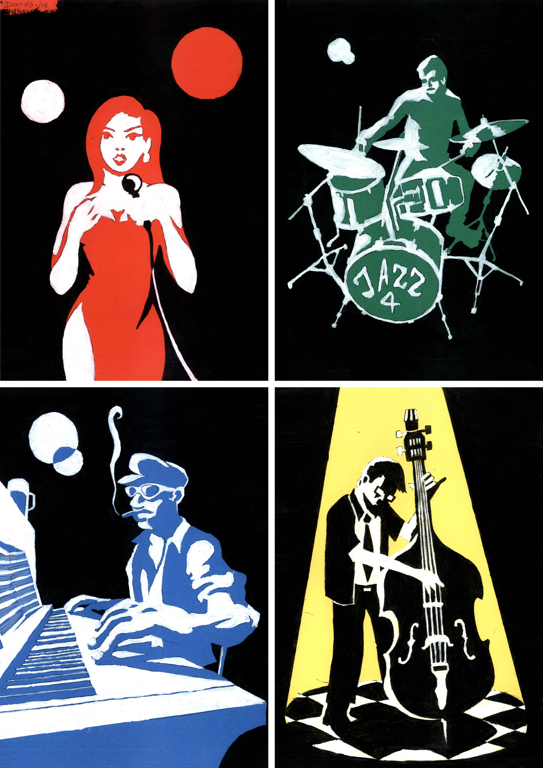 Daniel Garcia Art Illustration the Jazz Band