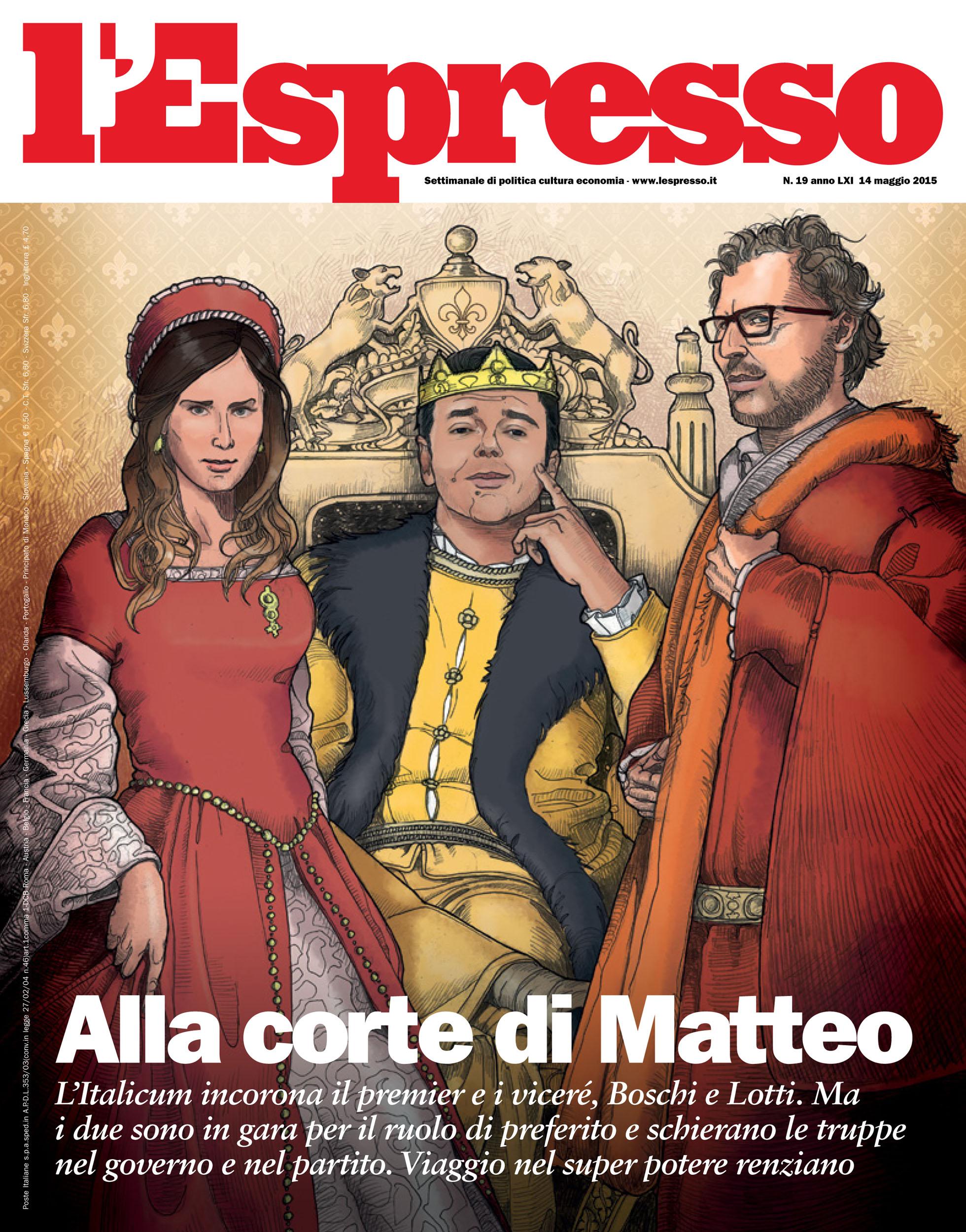 Daniel Garcia Art L'Espresso Cover Copertina Matteo Renzi Boschi Lotti Re 01