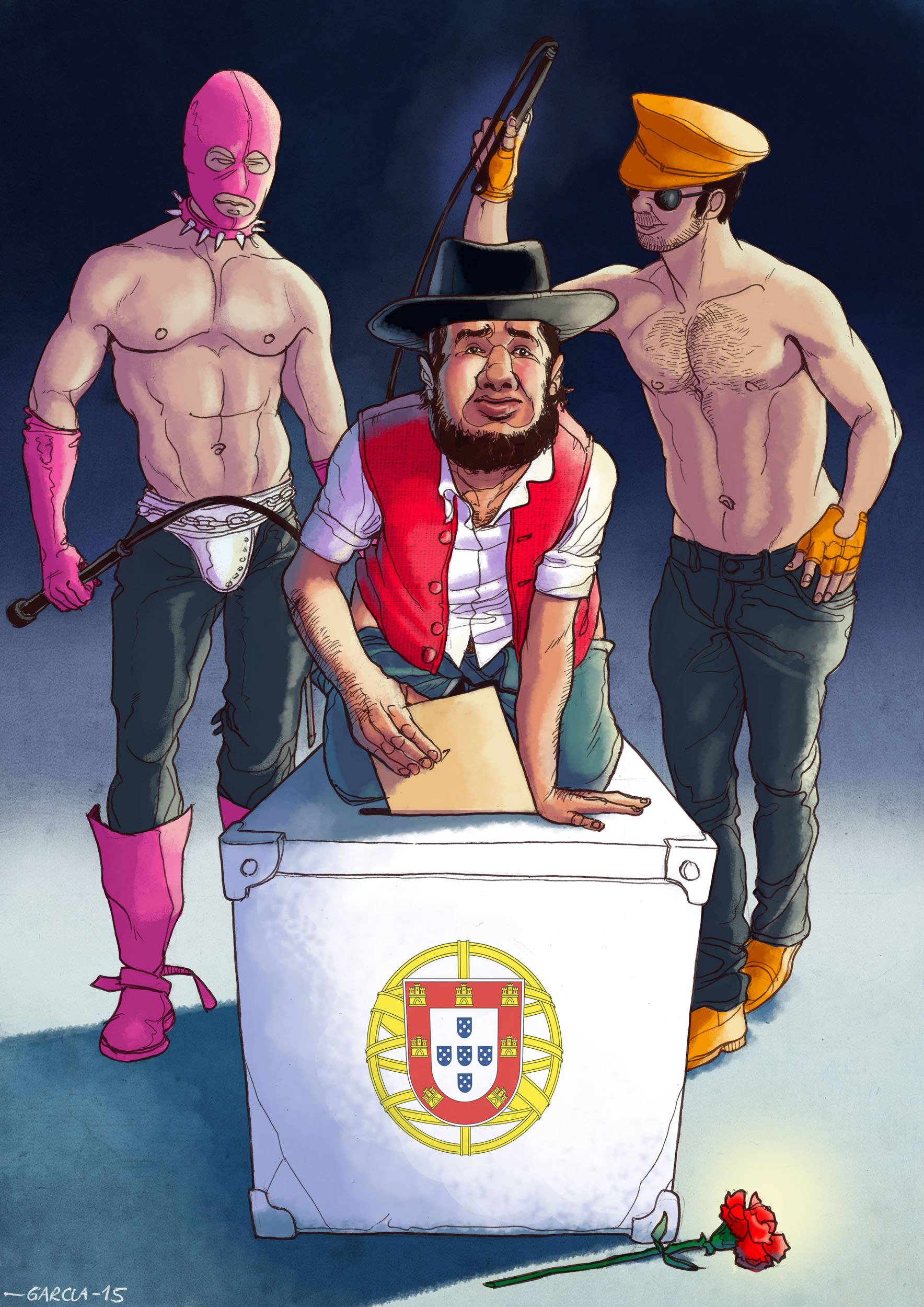 Daniel Garcia Art Illustartion Bipartidarismo Portugal