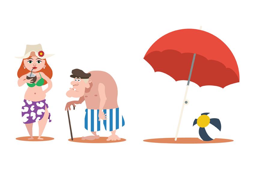 Daniel Garcia Art Illustration Flat Design Family Boy Girl Man Woman Vector 02