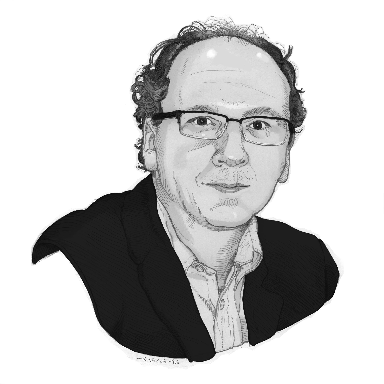 Daniel Garcia Art Illustration Portrait Journalist Tiempo de Hoy Gabriel Elorriaga