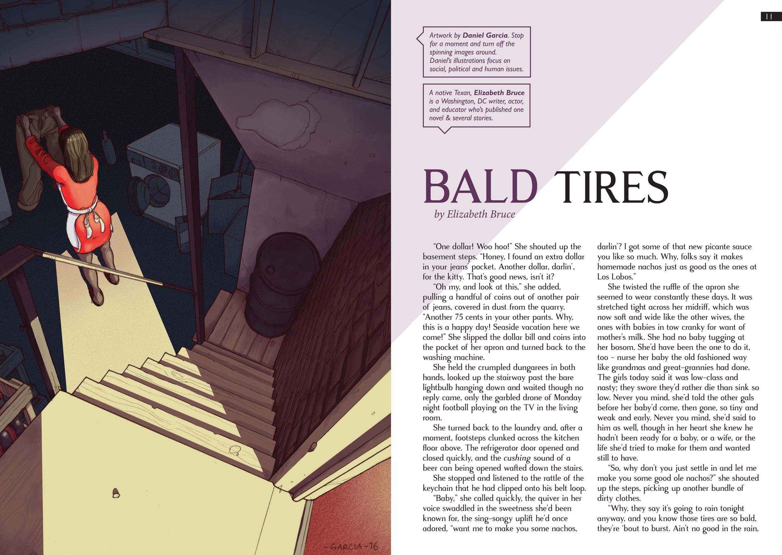 Daniel Garcia Art Illustration Bald Tires Firewords Woman Housewife Basement 02