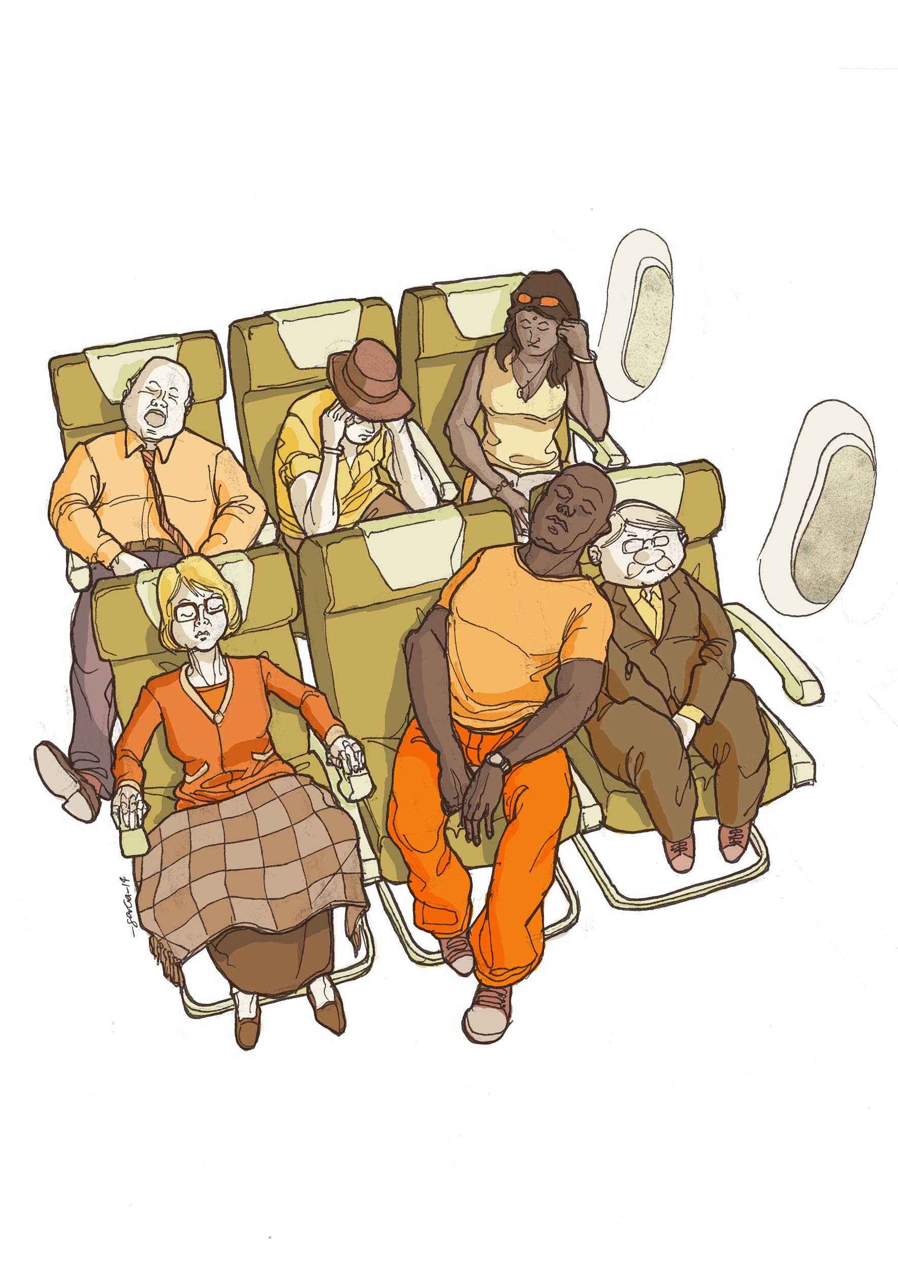 daniel-garcia-art-illustration-sleep-on-plane-national-geographic-traveler-01