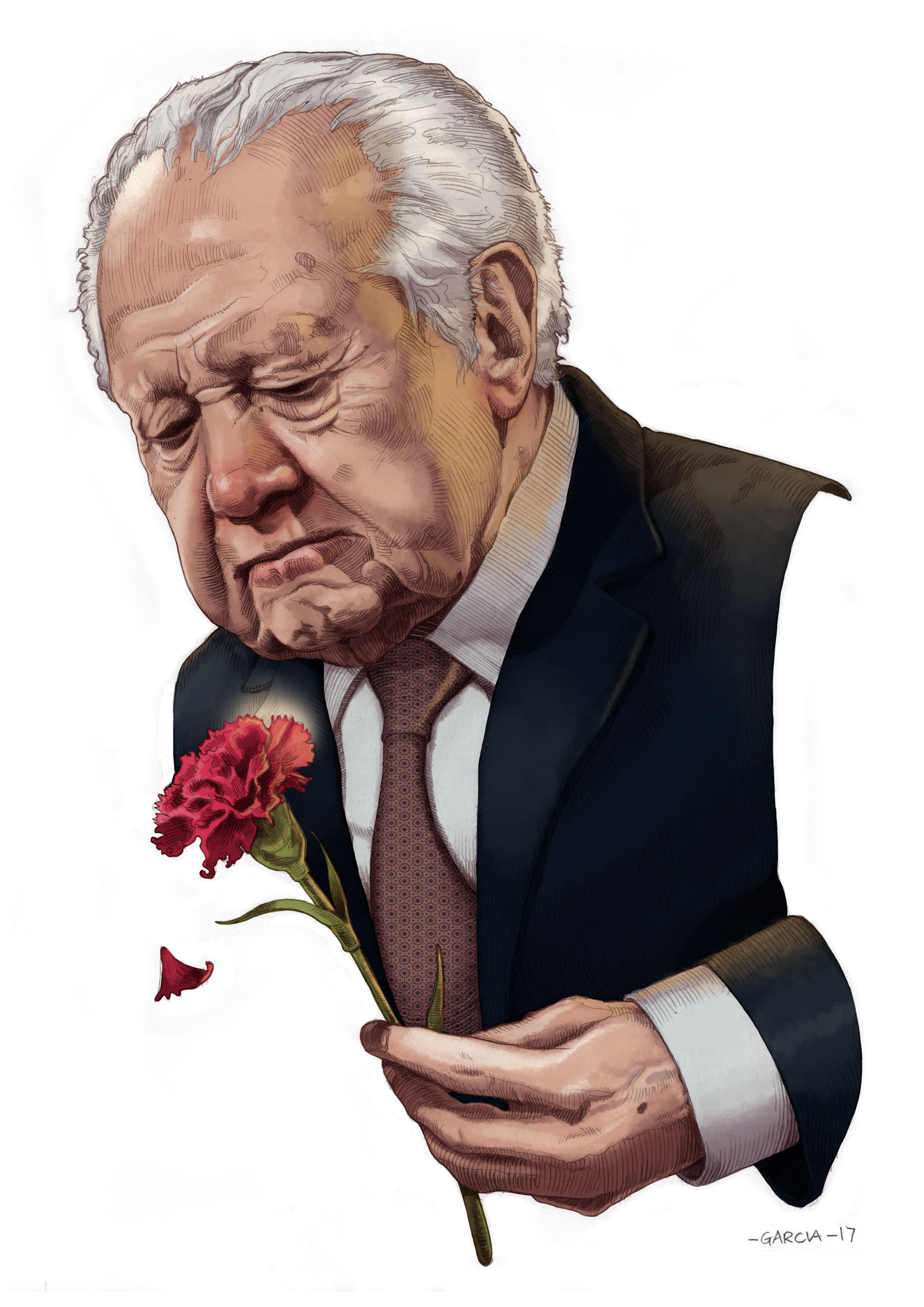 Daniel Garcia Art Illustration Mario Soares 25 de Abril Cravo Morte Funeral 01