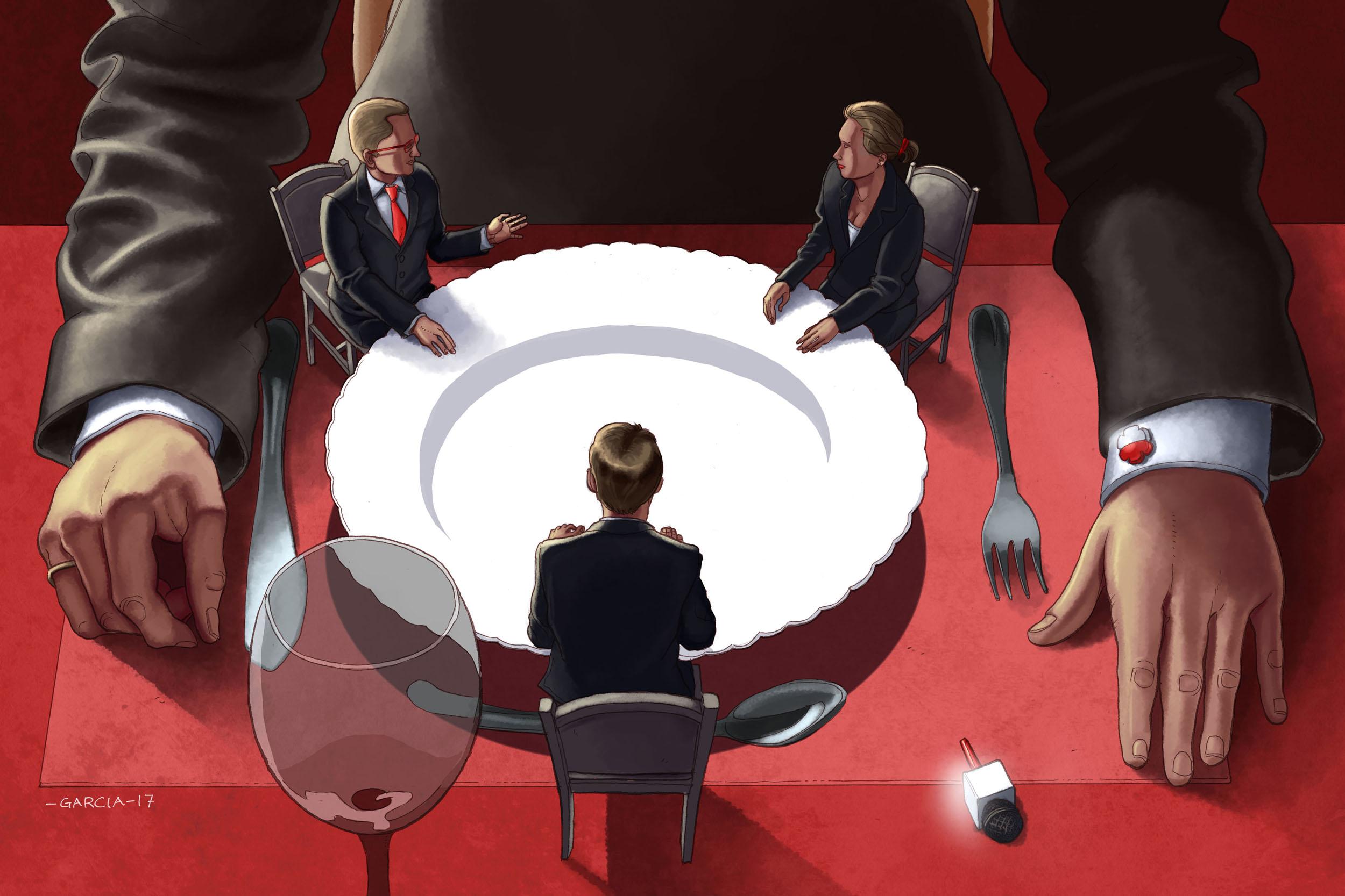 Daniel Garcia Art Illustration Press Prasa Politics Polityka Poland Polska Wladza Dziennikarze Journalist 01