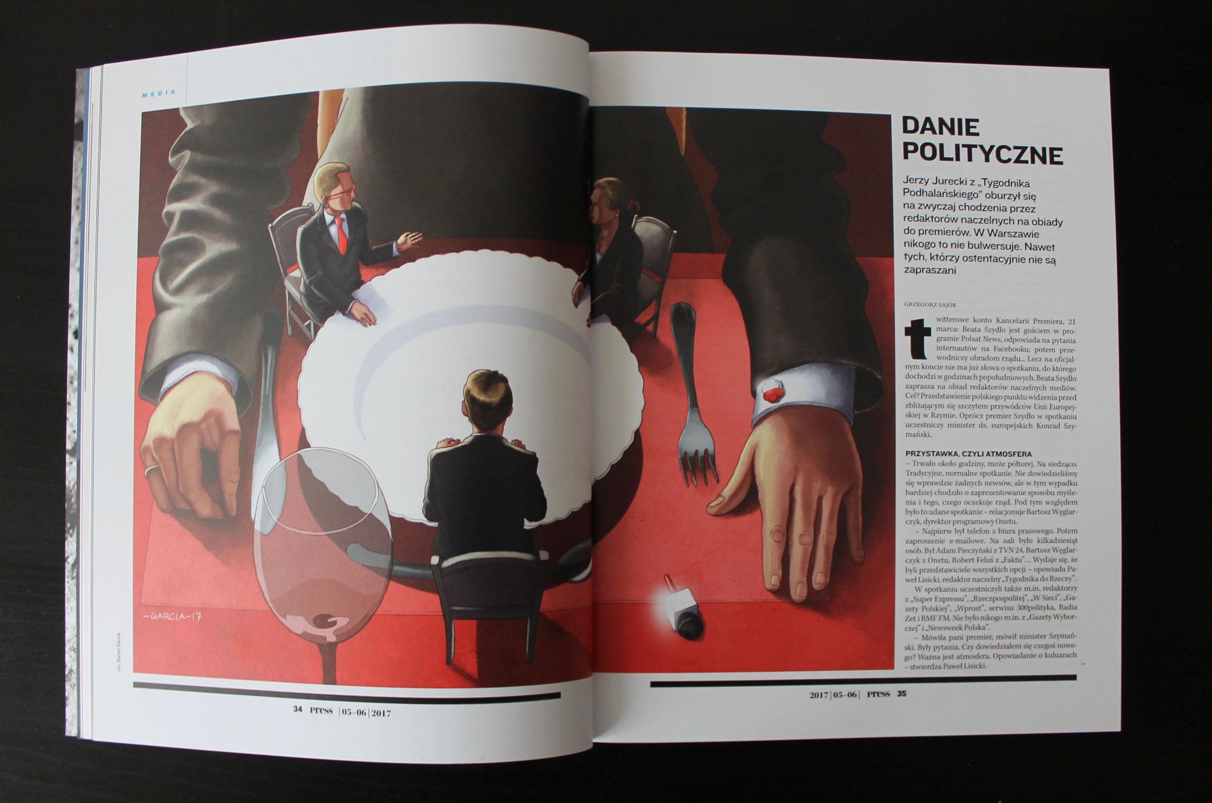 Daniel Garcia Art Illustration Press Prasa Politics Polityka Poland Polska Wladza Dziennikarze Journalist 02