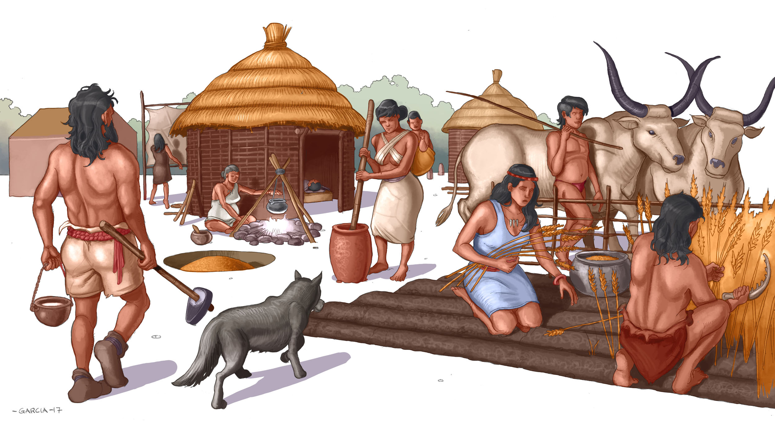 Daniel Garcia Art Illustration Asa Leya Neolithic History School Book Children Teenager Historia Livro Criancas Adolescentes 01