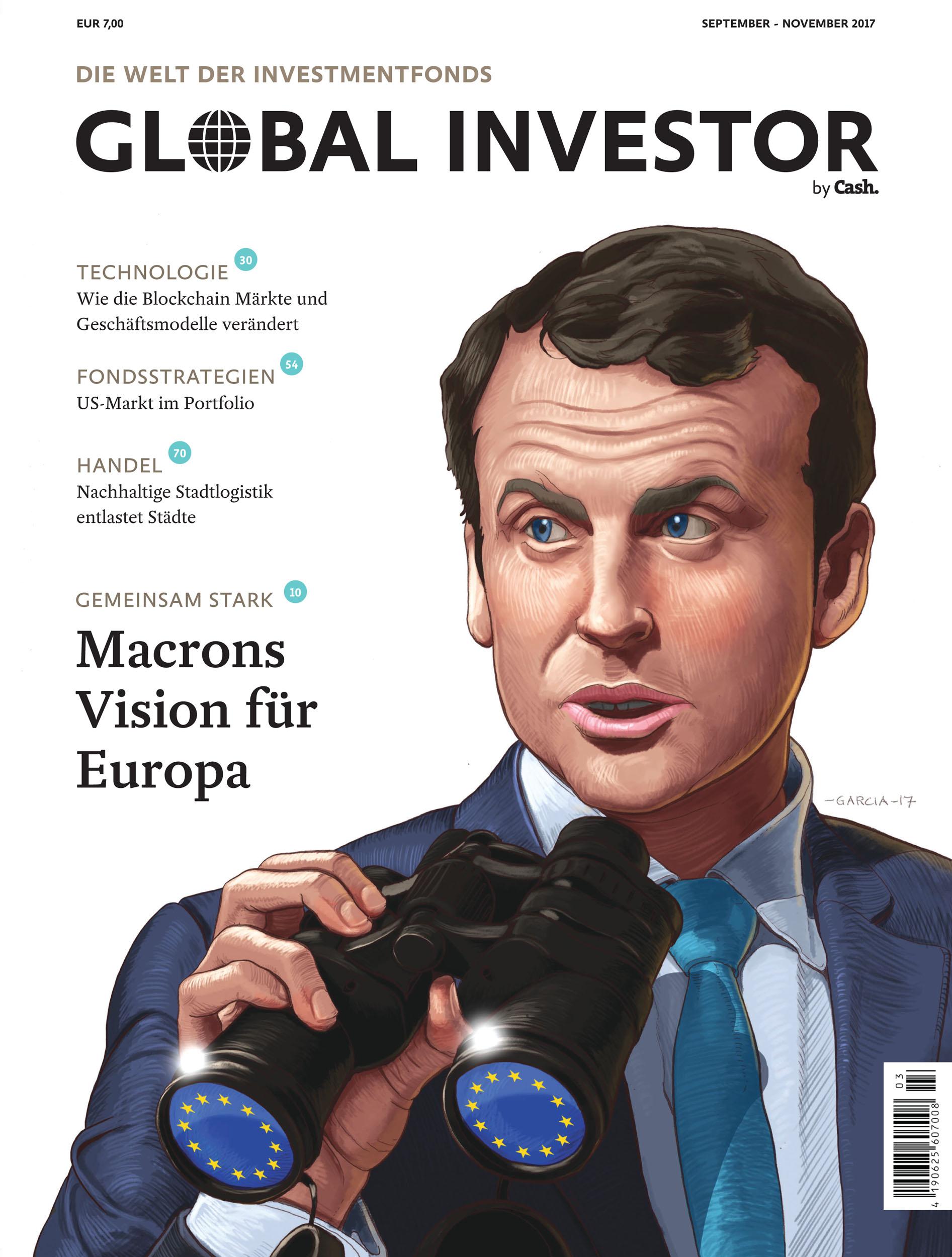 Daniel Garcia Art Illustration Macron Europe Vision Magazine Cover Illustration Cartoon Caricature 01