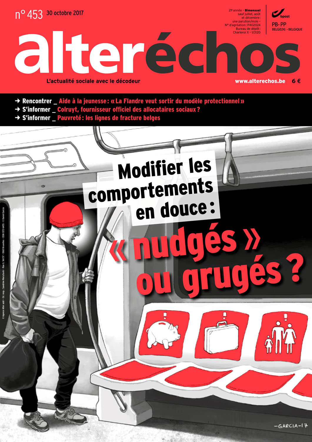 Daniel Garcia Art Illustration Editorial Belgium Belgique Alter Echos Pauverty Pauverte Nudging 02