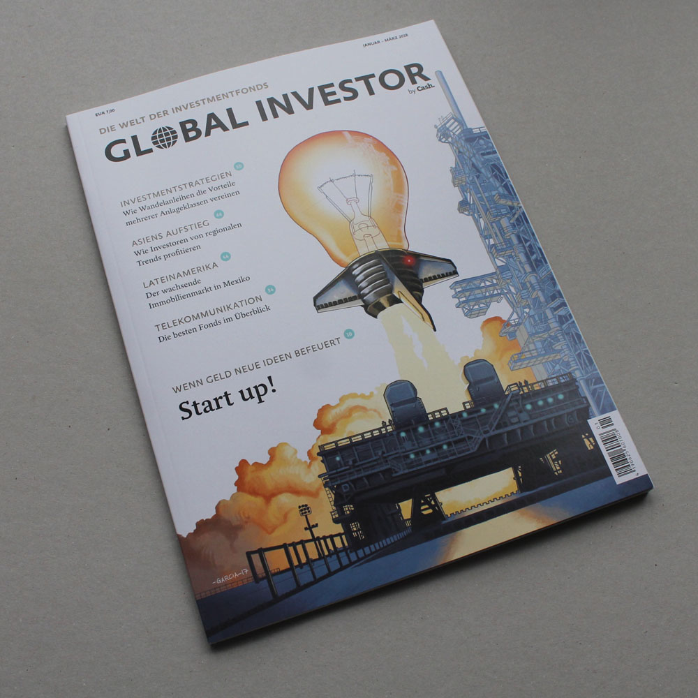 Daniel Garcia Art Illustration Global investor 7 Cover Startup Rocket Light Bulb 02