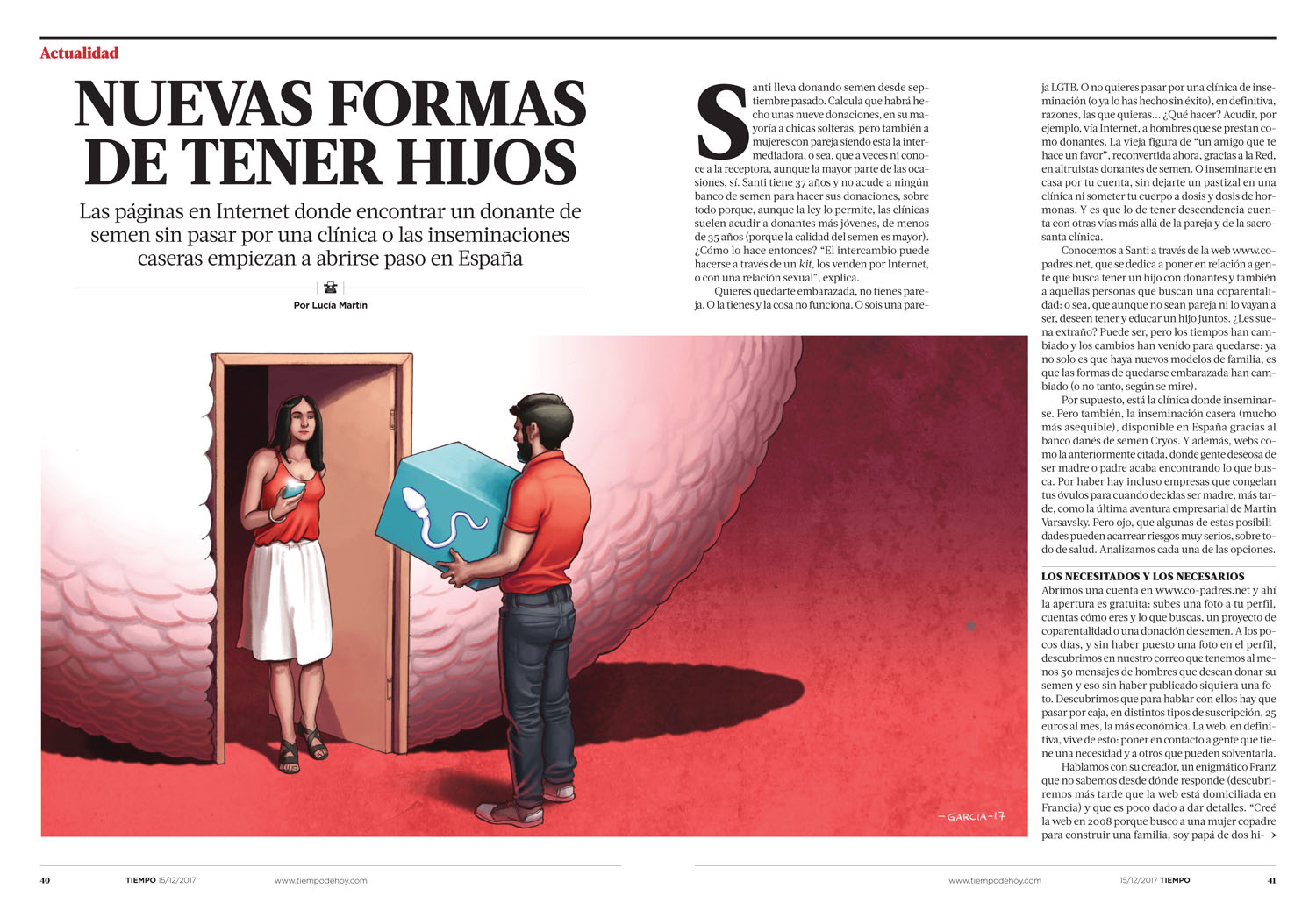 Daniel Garcia Art Illustration Ilustracion Editorial Tiempo Hijos Children Home Artificial Isemination Egg Sperm Man Woman Baby Pregancy 2