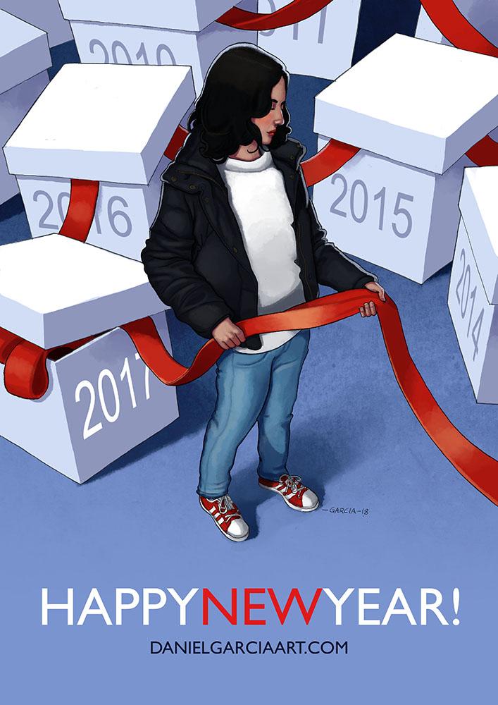 Daniel Garcia Art Illustration Happy New Year 2018