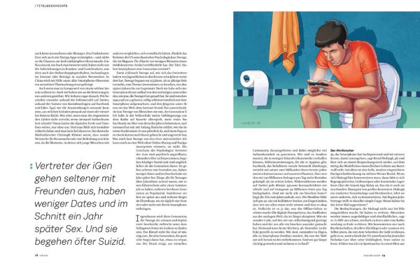 Daniel Garcia Art Illustration Editorial Cover Magazine Smartphone Addiction Girl Boy People City 03