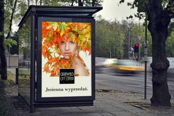 Triline Studio Billboard Bus Stop Outdoor Large Shopping Center Galeria Grunwald City Center 02