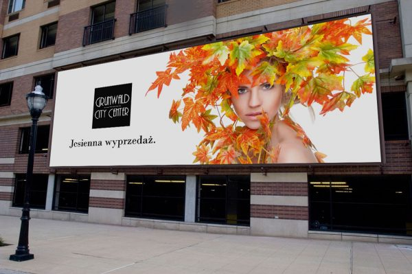 Triline Studio Billboard Bus Stop Outdoor Large Shopping Center Galeria Grunwald City Center 03