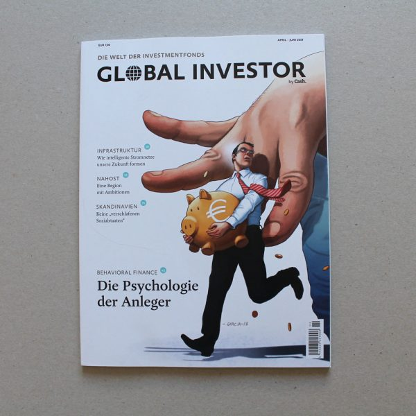 Daniel Garcia Art Illustration Editorial Global Investor 8 Nudging Financial Business Economy Hand Money Pigybank 02