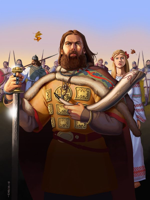 Daniel Garcia Art Editorial Illustration Ilustracja Okladka Slowianie Realistyczna Historia Focus History 01