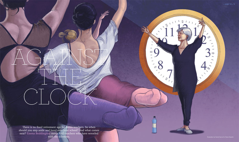 Daniel Garcia Art Editorial Illustration Balett Teacher Royal Academy of Dance 02