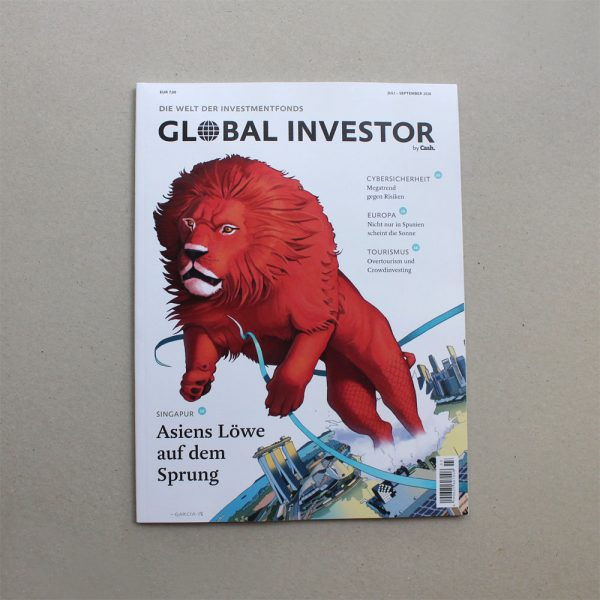 Daniel Garcia Art Editorial Illustration Singapore Merlion Marina Bay Economy Business Stock Market Investment Magazine Cover 3