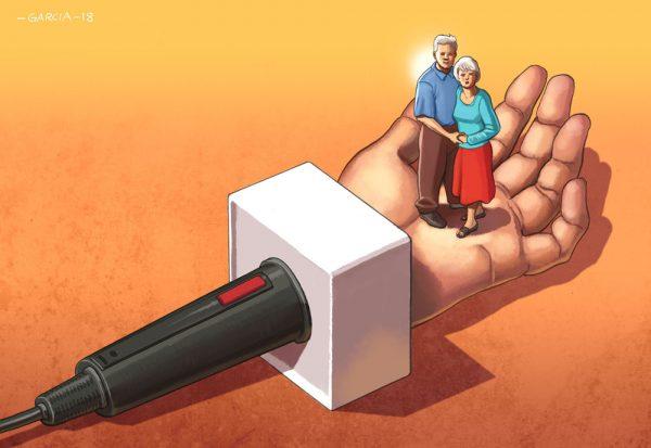 Daniel Garcia Art Editorial Conceptual Illustraion Walkley Non Profit Journalism COuple Man Woman Hand 01
