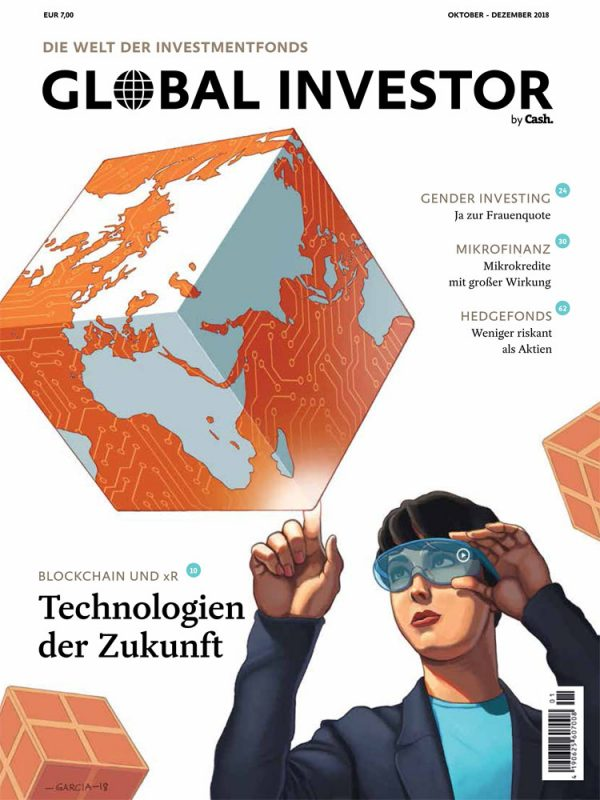 Daniel Garcia Art Editorial Conceptual Illustration Blockchain Magazien Cover Global Investor 1