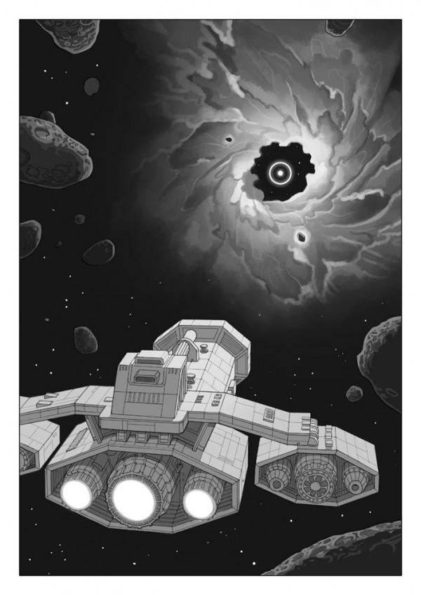 Daniel Garcia Art Editorial Illustration Comics H-Alt Fanzine Sciecne Fiction Space Black Hole Hell Adam Eve Bible 01